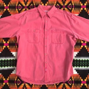 90s Marlboro Stone Washed Button Down Cotton Shirt